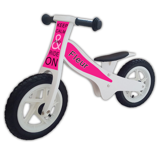 loopfiets-keep-calm-roze