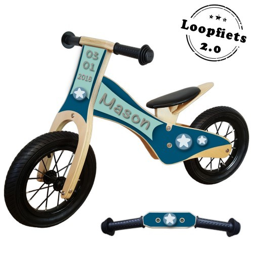 Loopfiets 2.0 little star blauw